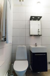 Ett badrum på Cozy Studio