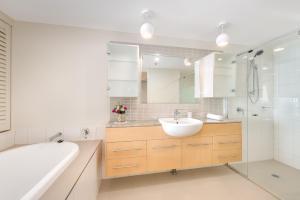 A bathroom at Nexus Towers