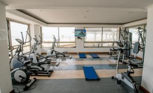 Фитнес център и/или фитнес съоражения в Apartamento en Condominio Mar Egeo