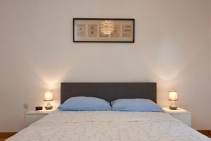 A bed or beds in a room at Goran