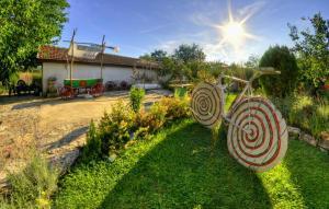 A garden outside Levana Guest House