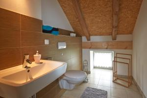 Ein Badezimmer in der Unterkunft Dreiseithof Sohra