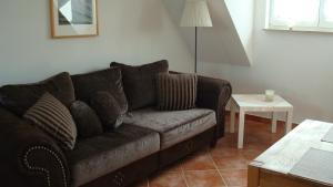 Ein Sitzbereich in der Unterkunft Kirchseeblick 5&6