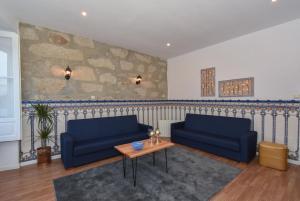 Coin salon dans l'établissement Guindais Oporto House