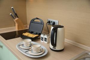 Coffee and tea-making facilities at Zoi Apartments
