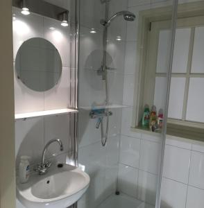A bathroom at Chalet nearby Roermond Outlet
