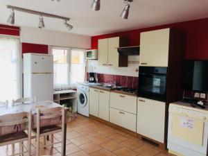 A kitchen or kitchenette at Appart'hôtel Villa Antibes