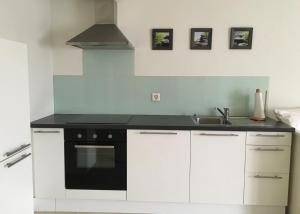 A kitchen or kitchenette at Charming Studio near Rotsee Lucerne Kitchen/WiFi/Wasching machine