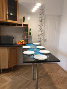 Küche/Küchenzeile in der Unterkunft Rose Bed