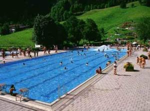 Gästehaus Sankt Florian veya yakınında bir havuz manzarası