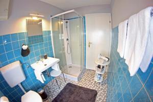 Ein Badezimmer in der Unterkunft Ferienhaus Mosel Cottage in Piesport