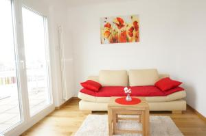 Ein Sitzbereich in der Unterkunft Terrassen Apartment beim Naschmarkt