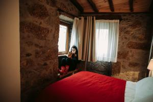 A bed or beds in a room at Casa Miguel