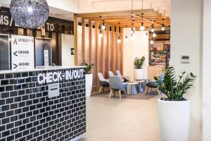 The lobby or reception area at Abode Woden