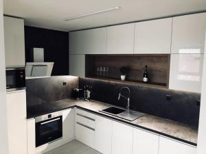 A kitchen or kitchenette at Apartment Centrum Exclusive