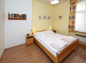 Postel nebo postele na pokoji v ubytování Apartmán Ondřejská