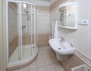 Koupelna v ubytování Apartmán Ondřejská