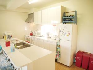 A kitchen or kitchenette at Blue Ocean Misaki B