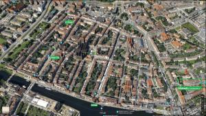 Widok z lotu ptaka na obiekt Altstadt by Happy 7 Apartments
