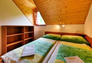 Postel nebo postele na pokoji v ubytování Apartmány Novákovi
