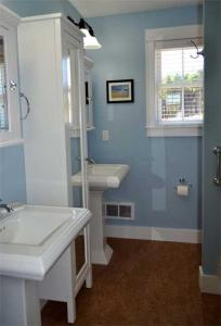 A bathroom at Impawsible Dream Three-Bedroom Home