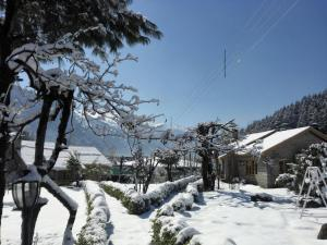 Leela Huts during the winter