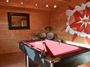 A pool table at Forest Edge