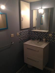 Salle de bains dans l'établissement Gite Campagnolle
