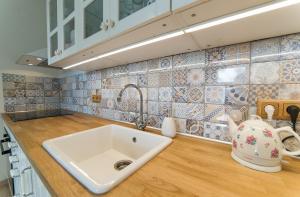 Koupelna v ubytování Apartmán u Knotků