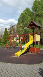 Lasten leikkialue majoituspaikassa Ligetház Apartman