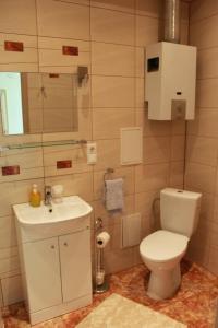 A bathroom at Happy Day