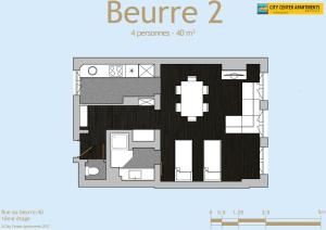 The floor plan of City Center Apartments Grand Place