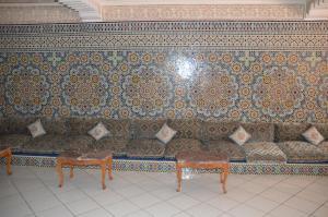 Svetainės erdvė apgyvendinimo įstaigoje Residence Yasmina Agadir