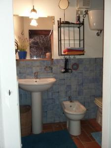 Salle de bains dans l'établissement Casa Magrini