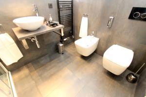 A bathroom at Luxury apartments Krocínova