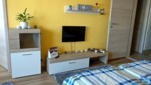 A television and/or entertainment centre at Agria Residence