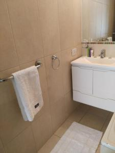A bathroom at Apart Los Vascos