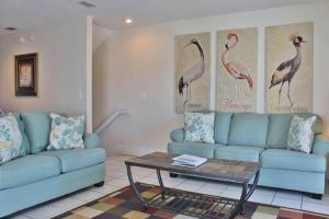 A seating area at Barrier Dunes Hideaway