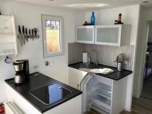 Küche/Küchenzeile in der Unterkunft Hausboot Glaukos