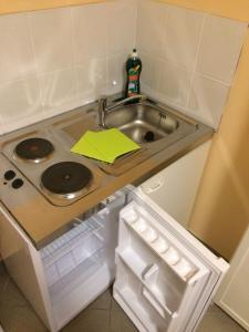 Küche/Küchenzeile in der Unterkunft Elbe Ferienwohnung