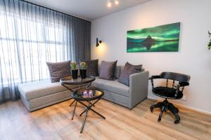 A seating area at Keflavik Luxury Apartments