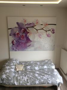 Postel nebo postele na pokoji v ubytování Luxury apartments in Prague