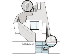 The floor plan of Hauptstadt Apartment
