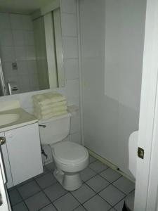 Un baño de Apartamento Amoblado Vitacura 6 personas con terraza
