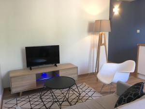 Télévision ou salle de divertissement dans l'établissement Lozanne