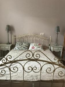 Кровать или кровати в номере Квартира Люкс