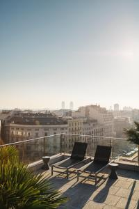 A general view of Barcelona or a view of the city taken from the apartment