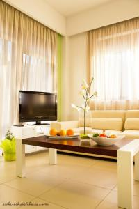 A television and/or entertainment center at Esthisis Suites Chania
