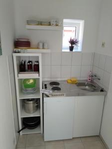 Küche/Küchenzeile in der Unterkunft FeWo24-Prasdorf