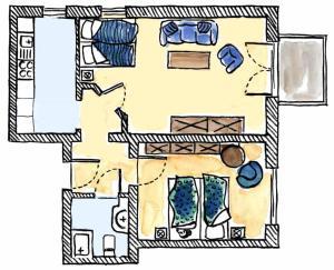 Grundriss der Unterkunft Fewo Neptun im Landhaus Immenbarg